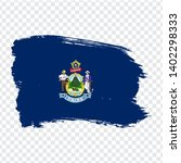 flag of  maine from brush...