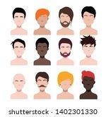 large set of black hair styling ...   Shutterstock .eps vector #1402301330