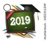 graduating class of 2019.... | Shutterstock .eps vector #1402311209