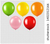 colorful balloon isolated... | Shutterstock . vector #1402312166