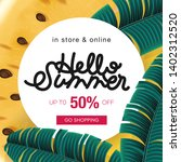 summer sale background layout... | Shutterstock .eps vector #1402312520
