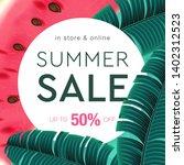 summer sale background layout... | Shutterstock .eps vector #1402312523