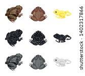 vector design of wildlife and... | Shutterstock .eps vector #1402317866