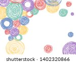 colorful scandinavian pencil... | Shutterstock .eps vector #1402320866