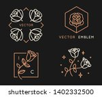 vector logo design templates... | Shutterstock .eps vector #1402332500