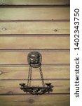 cast iron decorative figure on... | Shutterstock . vector #1402343750