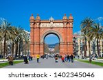 spain  barcelona  april  19 ... | Shutterstock . vector #1402345046