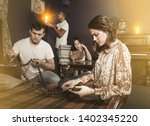 group of young adults... | Shutterstock . vector #1402345220
