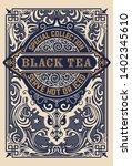 black tea label. vintrage style | Shutterstock .eps vector #1402345610