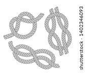simple overhand knot  figure... | Shutterstock .eps vector #1402346093