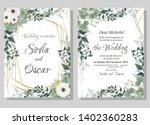 vector template for wedding... | Shutterstock .eps vector #1402360283