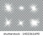 glow light effect. sun flash... | Shutterstock .eps vector #1402361690