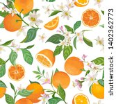 Seamless Orange Pattern With...