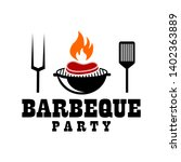bbq hot grill logo  ideas | Shutterstock .eps vector #1402363889
