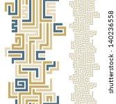maze seamless pattern ... | Shutterstock .eps vector #140236558