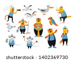 sailors team. nautical hand... | Shutterstock .eps vector #1402369730