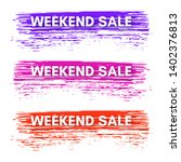set of three sale banners on... | Shutterstock .eps vector #1402376813