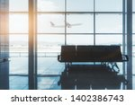 a row of seats indoors of a... | Shutterstock . vector #1402386743