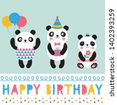 birthday vector greeting card... | Shutterstock .eps vector #1402393259