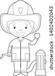 easy coloring cartoon vector...   Shutterstock .eps vector #1402402043