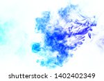 colorful steam exhaled from the ... | Shutterstock . vector #1402402349