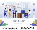 worker characters screaming at... | Shutterstock .eps vector #1402404539