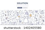solution concept. woman giving... | Shutterstock .eps vector #1402405580