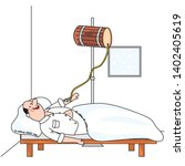 male at hospital  funny vector...   Shutterstock .eps vector #1402405619
