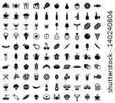 100 Food And Drink Icons Set ...