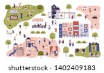 children at modern kindergarten.... | Shutterstock .eps vector #1402409183