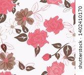 abstract flower seamless... | Shutterstock . vector #1402410170