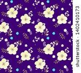 abstract flower seamless... | Shutterstock . vector #1402410173