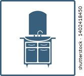 washstand line vector icon in a ... | Shutterstock .eps vector #1402418450