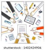 business team make a...   Shutterstock .eps vector #1402424906