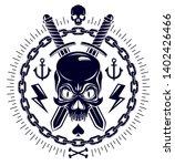 aggressive skull pirate emblem...   Shutterstock .eps vector #1402426466