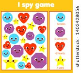 i spy game for toddlers. find... | Shutterstock .eps vector #1402428056