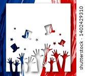 patriotic background flag of... | Shutterstock .eps vector #1402429310