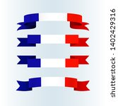 ribbon icons flag of france on... | Shutterstock .eps vector #1402429316