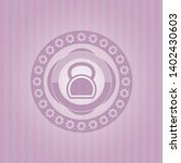 Kettlebell Icon Inside Pink...