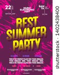 summer party poster for... | Shutterstock .eps vector #1402438400