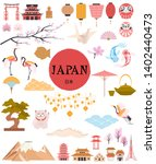 japan traditional famous... | Shutterstock .eps vector #1402440473