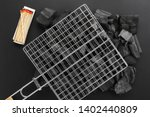 barbecue grill grid on charcoal ... | Shutterstock . vector #1402440809