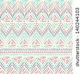 tribal ethnic seamless pattern | Shutterstock .eps vector #140244103