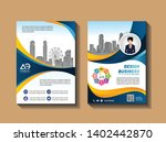 cover template a4 size.... | Shutterstock .eps vector #1402442870