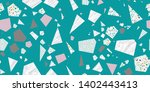 scrap terrazzo seamless repeat... | Shutterstock .eps vector #1402443413