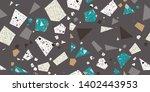 scrap terrazzo seamless repeat... | Shutterstock .eps vector #1402443953
