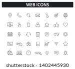 set of web icons in line style. ... | Shutterstock .eps vector #1402445930