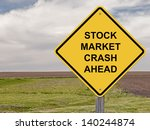stock market crash ahead  ... | Shutterstock . vector #140244874