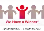 we have a winner vector concept ...   Shutterstock .eps vector #1402450730