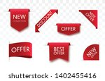 sale tags collection. vector... | Shutterstock .eps vector #1402455416